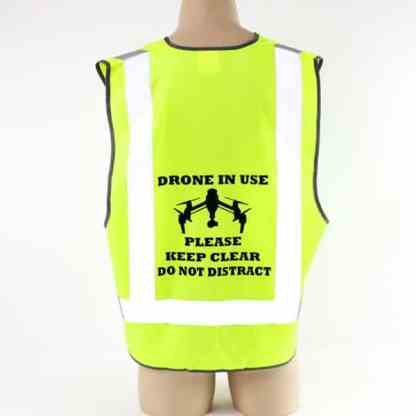 Drone Pilot Safety Vest Inspire Image Drone in Use
