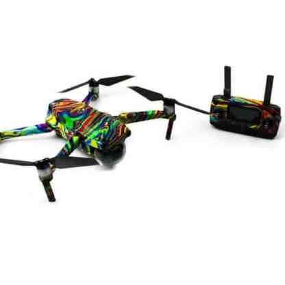 Psychedelic Drone Skin Wrap for DJI Mavic 2 Pro and Mavic 2 Zoom Drone Accessories Australia Front View of Drone and remote