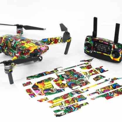 Graffiti Drone Skin Wrap for DJI Pro with Remote and Print Out