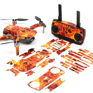 Fire n Flames Drone Skin Wrap Stickers for DJI Mavic Mini Front View with Print Out