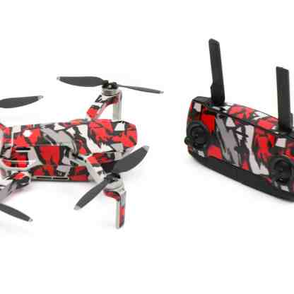 Red Rock Drone Skin Wrap Stickers for DJI Mavic Mini Side View