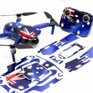 Aussie Flag Drone Skin Wrap Decal Stickers for DJI Mavic Air 2 Applied to Drone and Remote with Print Out