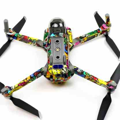 Graffiti Drone Skin Wrap Decal Stickers for DJI Mavic Air 2 Applied to Drone and Remote undercarriage