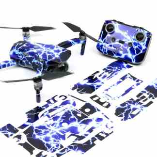 Lightning Strikes Drone Skin Wrap Decal Stickers for DJI Mavic Air 2 Applied to Drone and Remote with Print Out