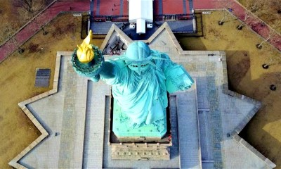 Statue of Liberty via Drone