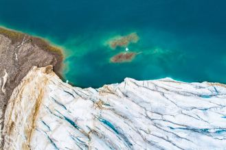 Glacier From Above on Devon Island