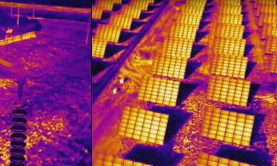 Aerospec's thermal images of a solar farm