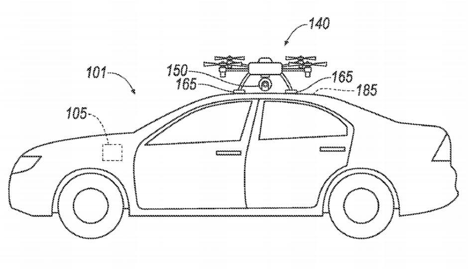 Sensorersatz per Drohne - Fordpatent.