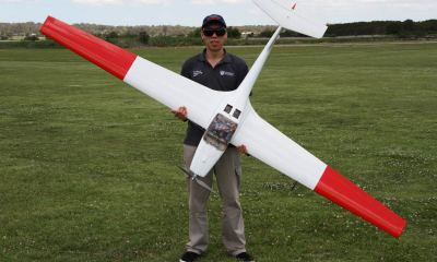 PhD candidate Andrew Gong during hydrogen fuel cell-powered flight trials in 2017