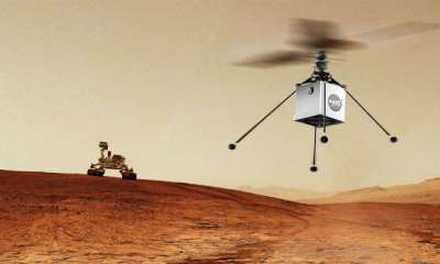 The NASA helicopter drone