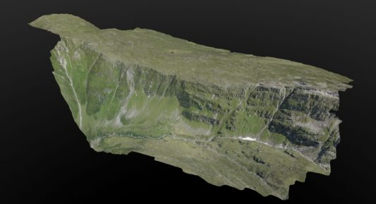 3D model of a valley in the Swiss Alps