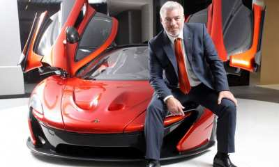 Design chief Frank Stephenson poses with the McLaren P1 | Paul Yeung