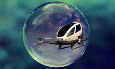Artist's impression of a drone inside a protective bubble