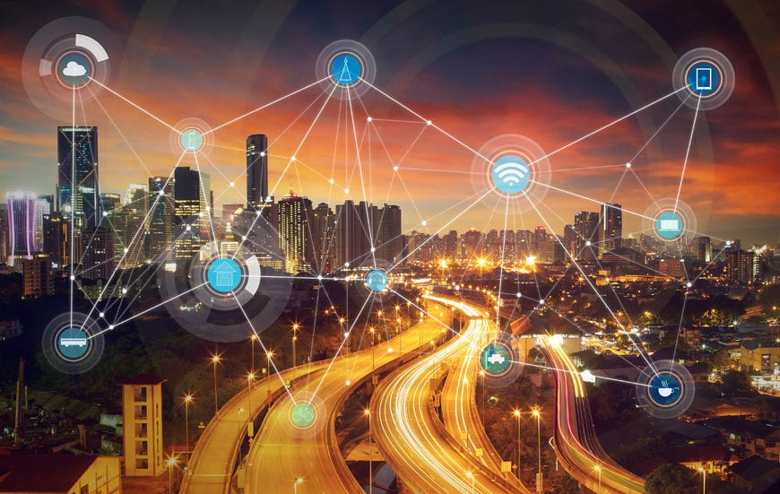 A smart city and wireless communication network