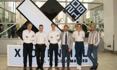 Pictured from left to right: Marc Kegelaers (Unifly), Marc Coen (Unifly), Laurent Huenaerts (Unifly), Sasha Bilous (Aeronyde), Ellen Malfliet (Unifly) and Eric Acton (Aeronyde)