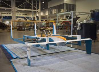 The Amazon Hybrid Delivery Drone in restoration at the Museum's Steven F. Udvar-Hazy Center | NASM