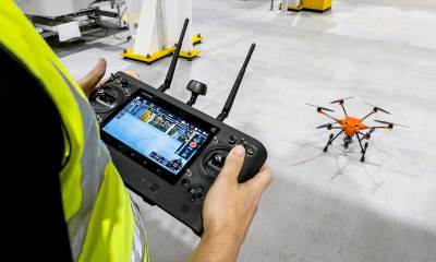 Ford worker uses drone in UK plant