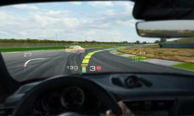 Holographic augmented reality head-up display technology, WayRay, 2018, Porsche AG