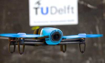 The Parrot Bebop 1 is used as experiment platform. The software is replaced by the Paparazzi UAV open-source autopilot project
