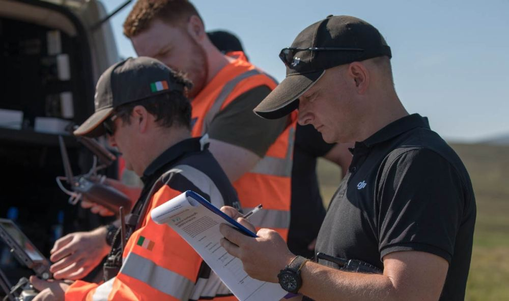 Romeo Durscher working with the drone SAR teams