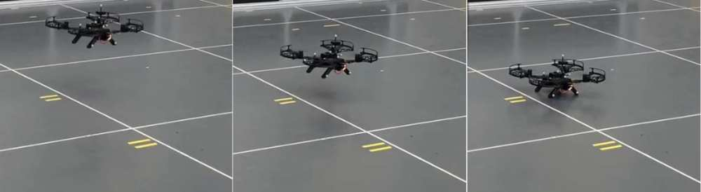 Intel Aero drone during experiments