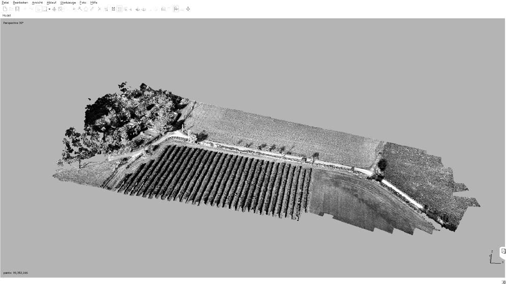 Thick point cloud generated by Agisoft Photoscan (screenshot)