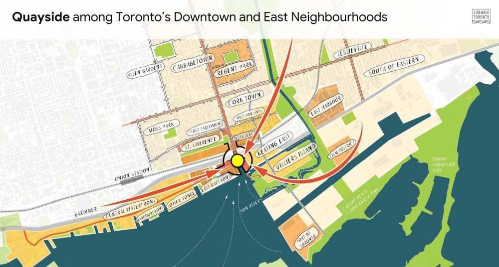 Quayside among Toronto's Downtown and East Neighbourhoods