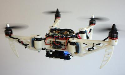 A 'T' shape can be used to bring the onboard camera mounted on the central frame as close as possible to objects that the drone needs to inspect.