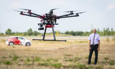 In the first trial of its kind in Europe, Vodafone Group, the world leader in Internet of Things services for business, has successfully demonstrated how mobile networks could support the European's Commission's vision of safe long distance drone flights. Credit: Vodafone Germay