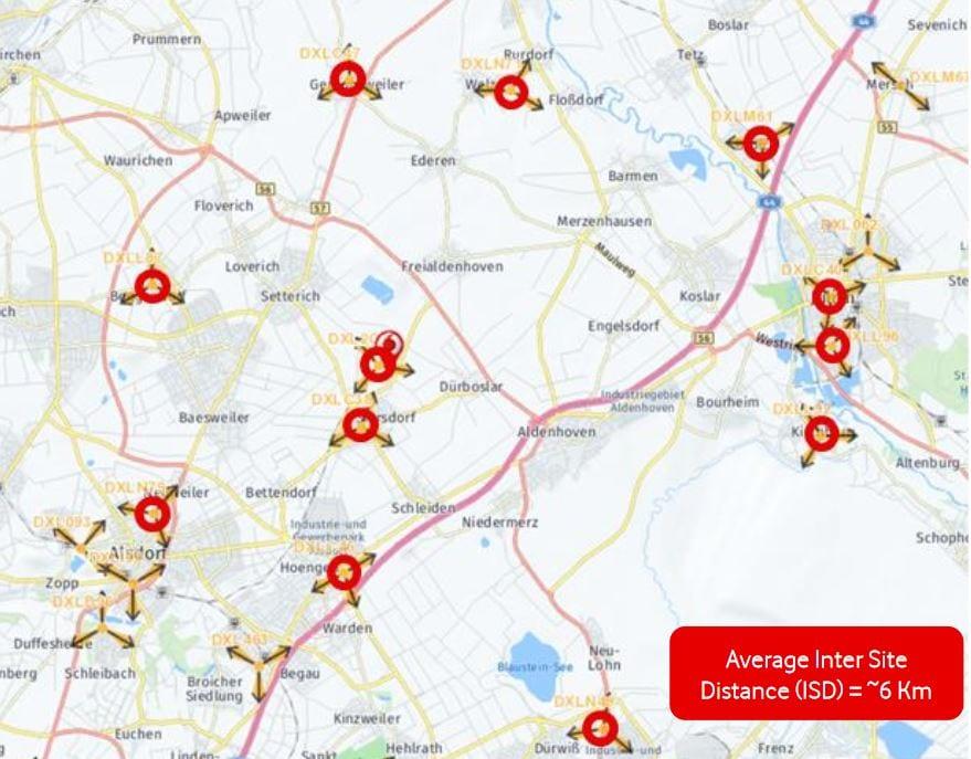 L800 sites surrounding Aldenhoven