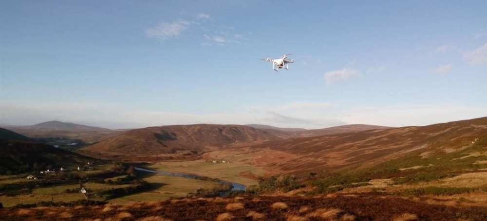 DJI Phantom 3 Advanced flown over the Strath of Kildonan
