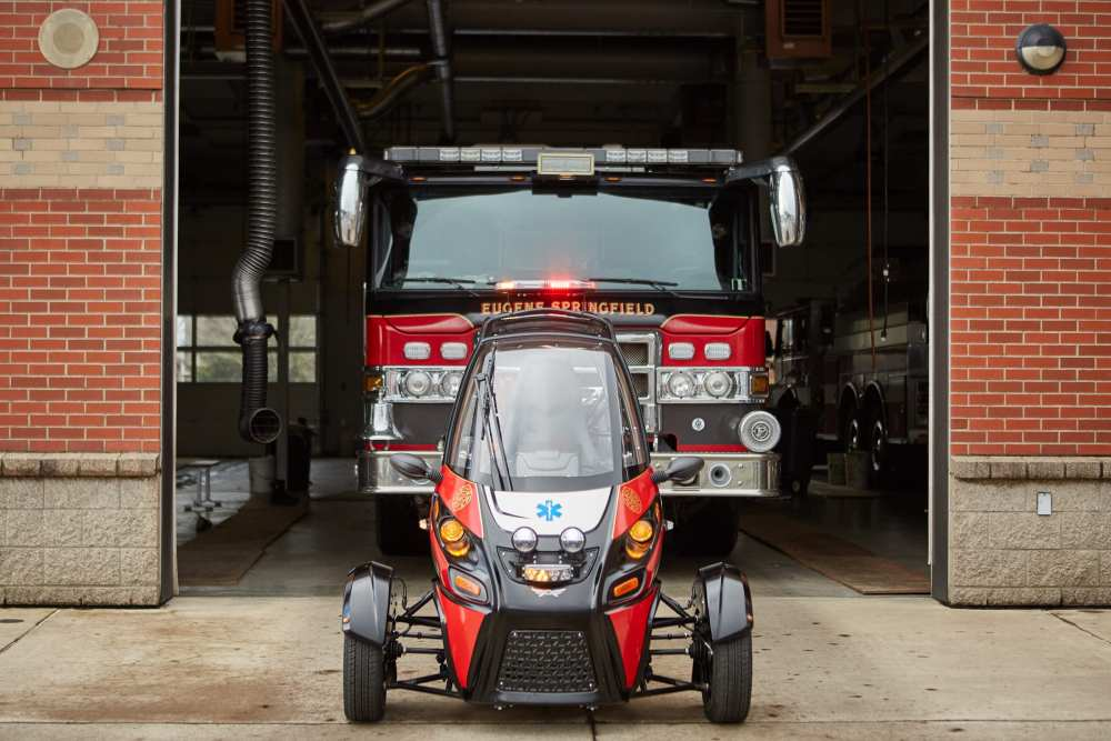 The pure-electric Rapid Responder is built on the Arcimoto platform, and designed for specialized emergency, security and law enforcement services at a fraction of the economical and ecological cost of traditional ICE vehicles.