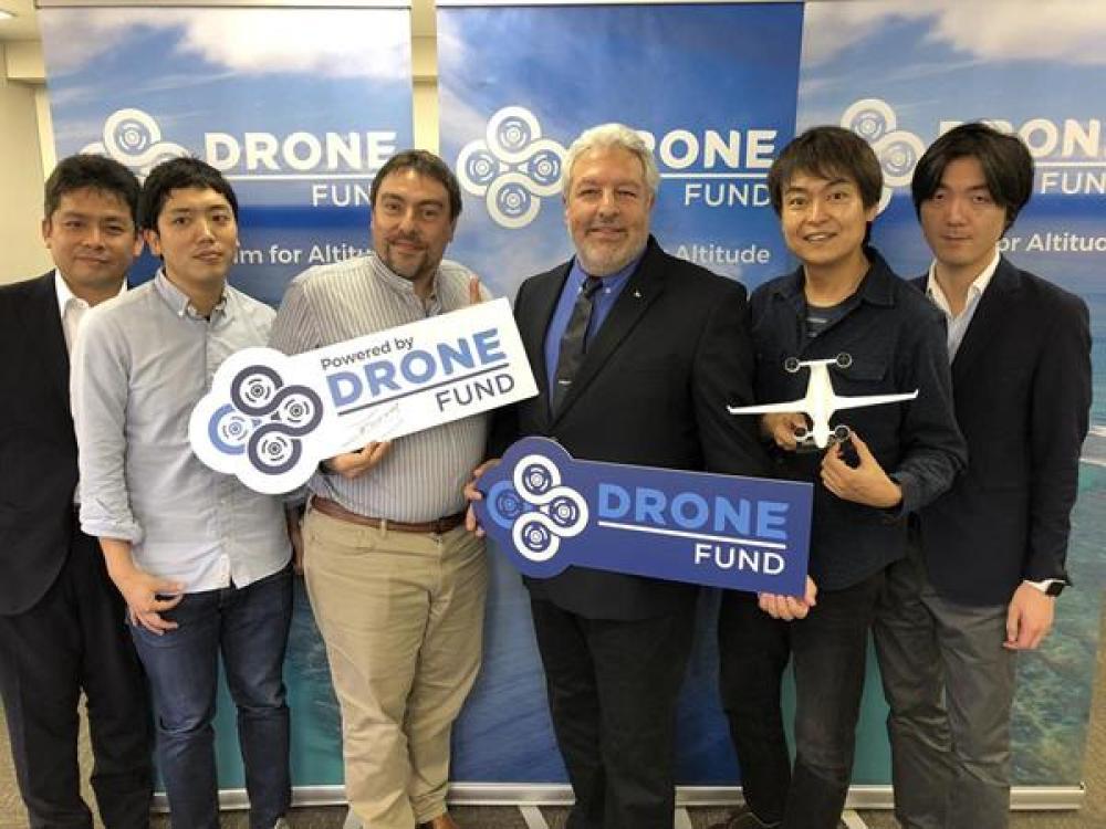 Left to Right: Kazunori Saito (Board Member - Sabrewing Aircraft); Daichi Funanami (CFO - Drone Fund CFO); Soki Enzo Omae (Co-Founder / Representative Partner, Drone Fund); Ed De Reyes (CEO – Sabrewing Aircraft); Kotaro Chiba (Founder - Chiba-Dojo & Drone Fund); Shinodaro Takahashi (Senior Policy Advisor – Drone Fund). Sabrewing Aircraft