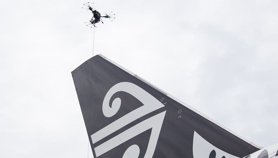 DroScan in action on an Air New Zealand aircraft (Image credit: Air New Zealand)