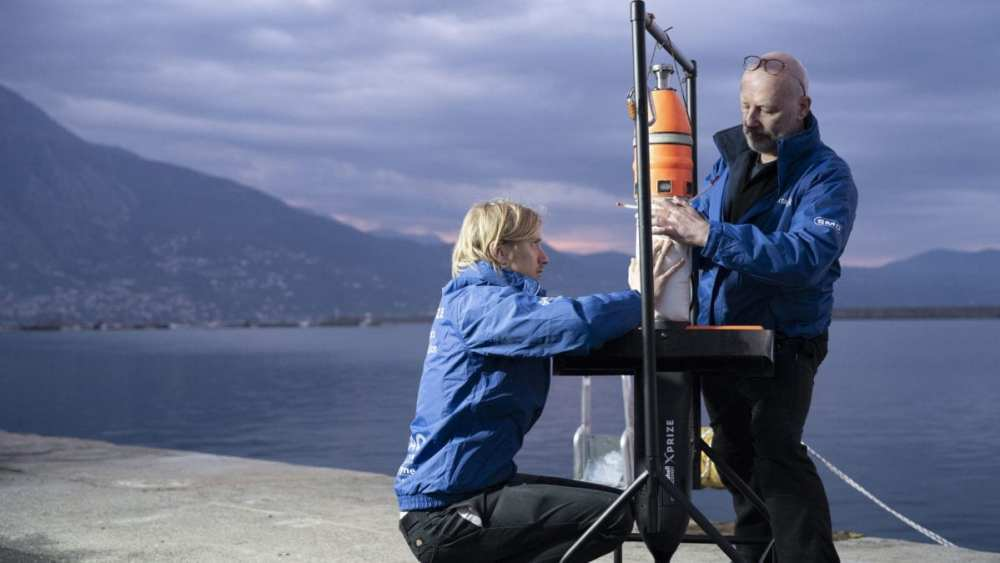 Team Tao from the United Kingdom competes in Kalamata Greece as part of $7 million Shell Ocean Discovery XPRIZE. Source: XPRIZE.