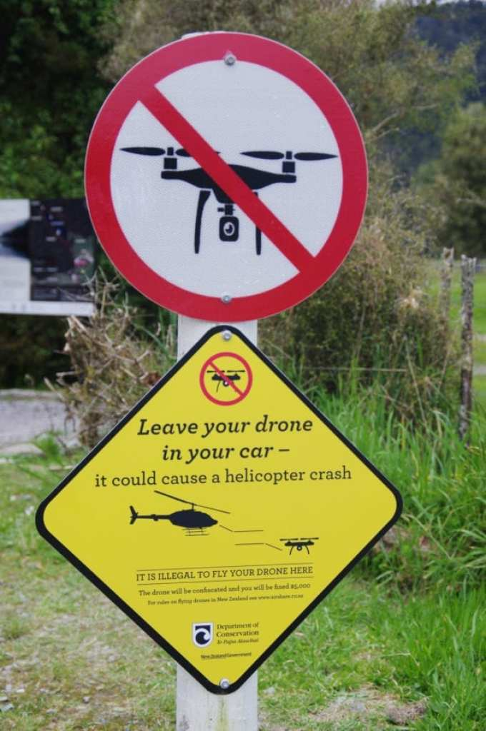 No drones allowed in the vicinity of helicopters. © Michael May