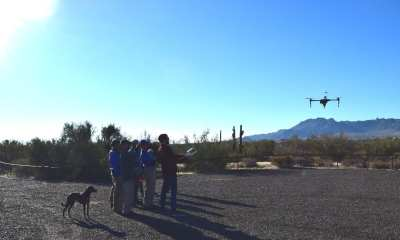 First flight at the aerial imaging workshop held in the McDowell Sonoran Preserve