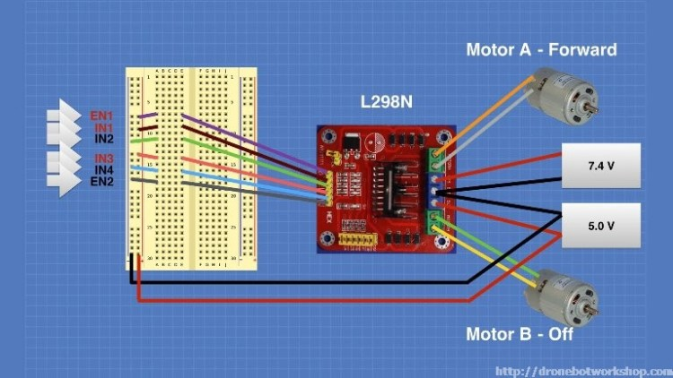 L298 Motor Control Module Experiment 2
