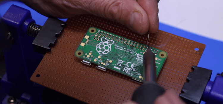 Soldering the Raspberry Pi Zero GPIO Connector