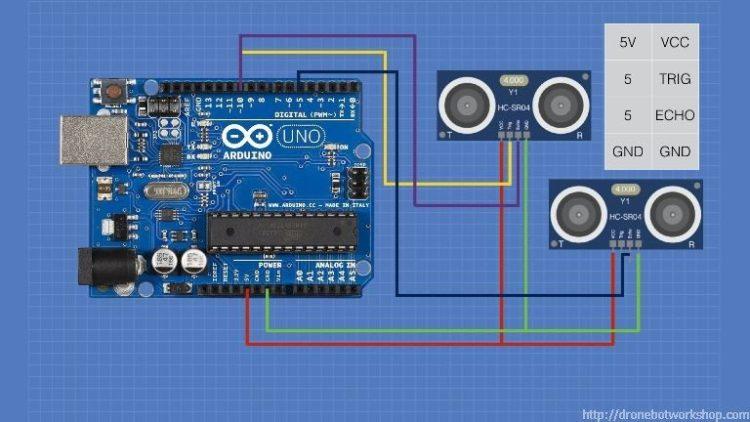 HC-SR04 Two Sensors