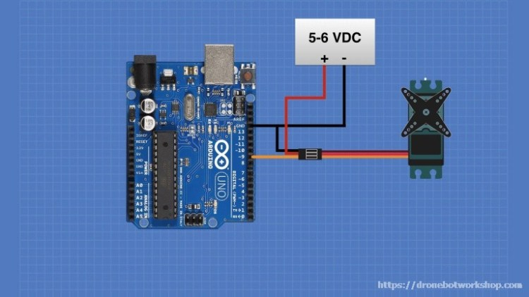 Arduino Sweep Sketch Servo Hookup