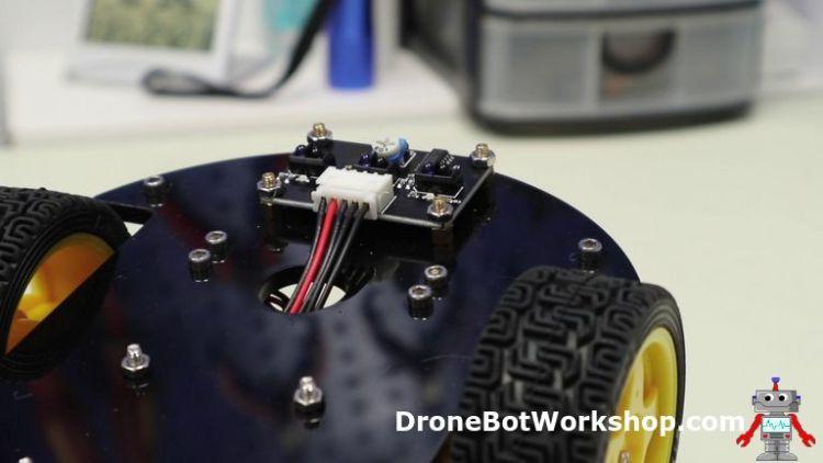 Location of Line Tracking Sensor on Robot Car