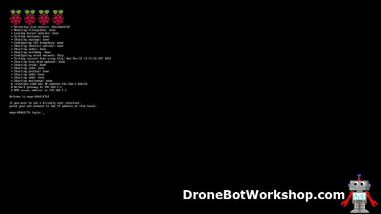 motionEyeOS & Raspberry Pi | DroneBot Workshop