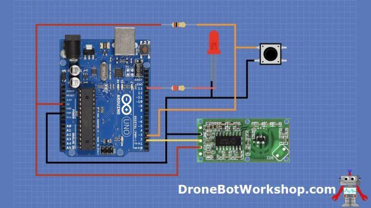 RCWL-0516 Arduino Latching Hookup
