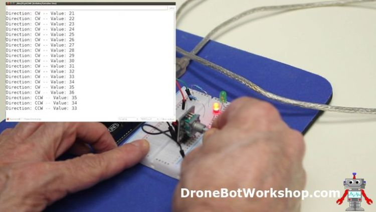 Using Rotary Encoders with Arduino | DroneBot Workshop