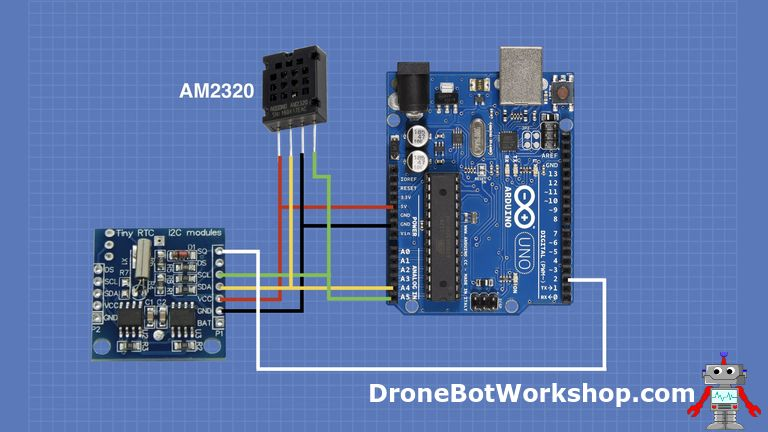 using a real time clock with arduino dronebot workshoparduino real time clock and temperature humidity sensor