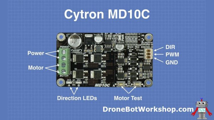 Cytron MD10C Pinouts