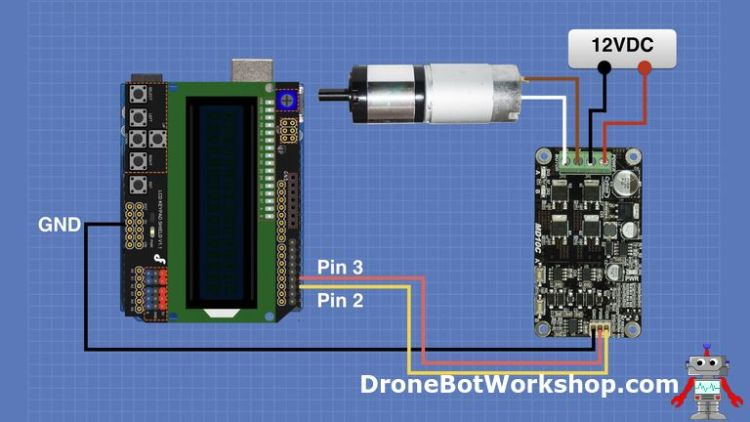 Cytron MDC10C Arduino Hookup with LCD Keypad