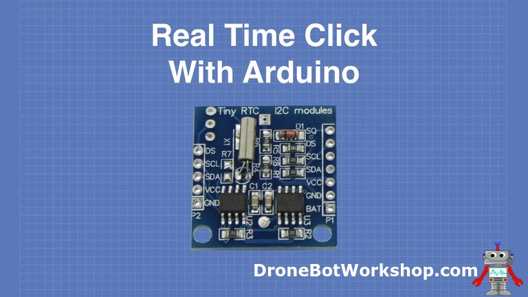 using a real time clock with arduino dronebot workshopLoadedcircuitcom Realtime Clock With Remotecontrolled #1