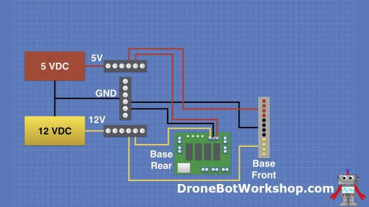 Power Distribution Base Front Schematic